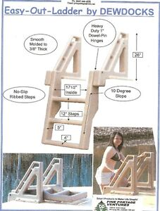 3 , 4 , and 5 STEP Folding Dock Ladder .