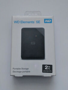WD Elements SE 2 TB Portable Hard Drive USB 3.0