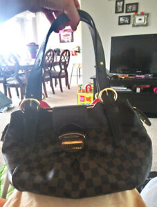 Louis Vuitton Damier Ebene Canvas Sistina PM Handbag