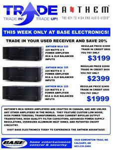 Save 20% on Anthem Receivers & Amplifiers at Base Electronics!