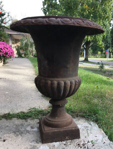 Beautiful Cast Iron Garden Urn/Planters For Sale