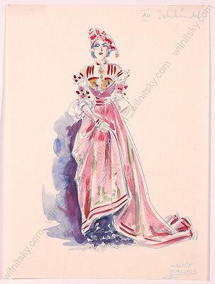"Gret Kalous-Scheffer (1892-1975), ""Six Costume Designs"", 1930s"