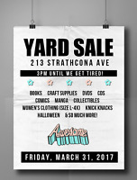 YARD SALE This Friday