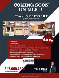 Coming Soon MLS !!! Townhouse For Sale $634,900
