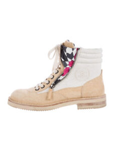 Chanel Combat Boots 8.5/9.0 for fashionistas and stylish ladies!