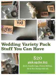 WEDDING VARIETY PACK (BOWL, CAGE, HEADBAND, STAMPS)