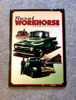 Rural Workhorse Pickup Truck Metal Sign