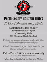 Perth County Holstein Club 100th Year Anniversary Gala
