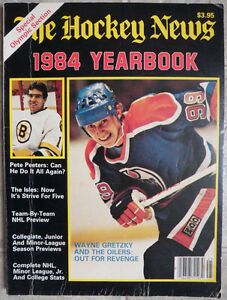 Wayne Gretzky mag, newspaper features, poster, card box, & disc