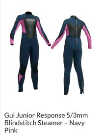 Junior wetsuit - Gul Junior Response 5/3mm Blindstitch Steamer – Navy