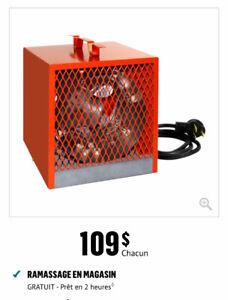 Chaufferette portative, 4800 W, 240 V