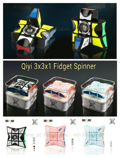 - - Qiyi 3x3x1 Fidget Spinner for sale in Singapore