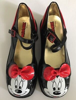 Disney Store Minnie Mouse Mary Jane Costume Shoes Girls Size 2 / 3 Youth