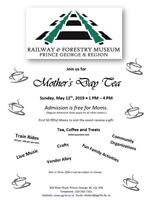 Mother's Day Tea at the Railway and Forestry Museum