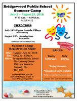 Summer Camp - Bridgewood Public School