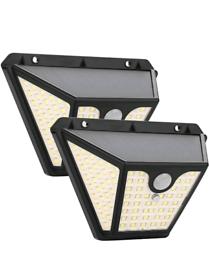 102 LED Solar Outdoor Wall Lights, Maxsure Solar Motion Sensor Securit