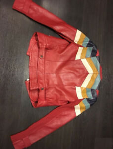 BCBG Leather Jacket For Sale