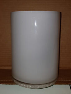 White Cylindrical Glass Vase/Container