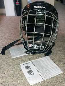 "Reebok Hockey Helmet with Face Cage ""FM 5K"" Large"