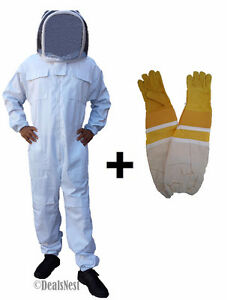 Professional Quality Beekeeping Bee Suit & Free Leather Gloves
