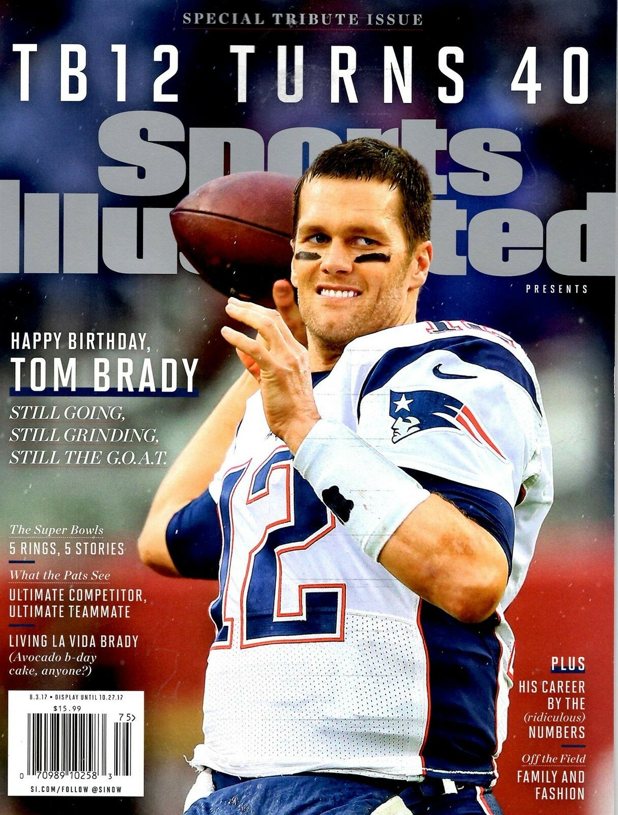Sports Illustrated Magazine 2017 New England Patriots 40th Birthday