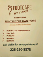 Foot Care for yourself or a loved right in your own home.