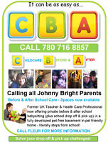 Childcare: Before & After School Club, Johnny Bright, Rutherford