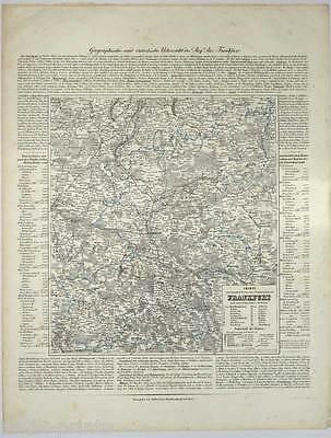 Frankfurt/Oder-Brandenburg-Polen-Polska-Karte-Map-Lithographie 1845