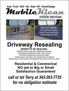 Mobile Klean .. mobile driveway sealing services Peterborough Peterborough Area image 2