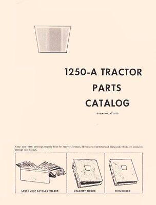 Oliver 1250a 1250-a Tractor Parts Catalog Manual List