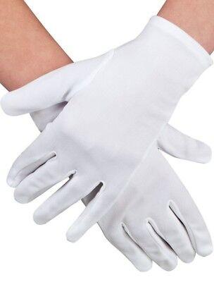Handschuhe Weiß oder Schwarz Polyester Unisex Handgelenk Länge Kostüm Reg - Weiße Oder Schwarze Kostüm Handschuhe