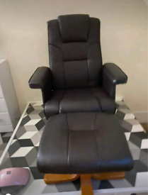 Recliner chair and footstool