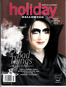 Martha Stewart Holiday Halloween Special Issue 150 Bad Good