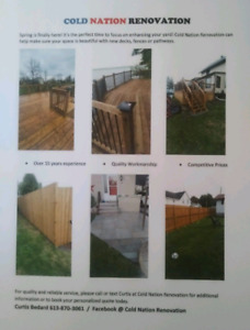 Are you looking to have a fence or deck installed?