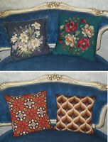 Hand Stitched Pillows / Coussins - Florentine / Bargello Styles