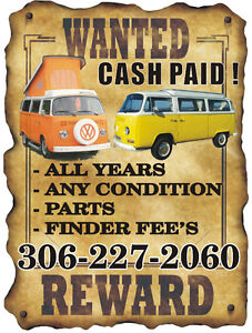COLLECTOR/RESTORER SEEKING VOLKSWAGEN VANS