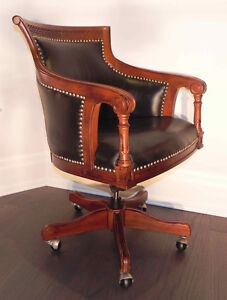 Stylish and comfortable genuine leather club chair