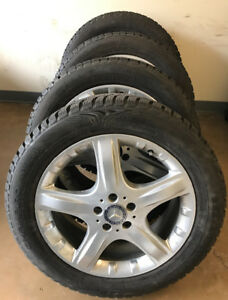 Mercedes ML OEM Rims and Winter Tires with 100% tread