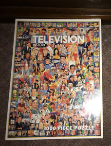 Television History Puzzle 1000 Piece NEW/SEALED  60s 70s 80s 90