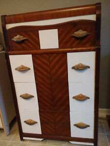 SOLID WOOD ART DECO DRESSER, WATERFALL DESIGN