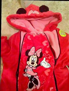 Minnie mouse infant snowsuit