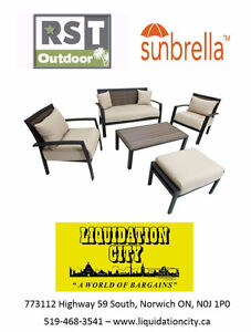5pc Aluminum Outdoor Conversation Set - BRAND NEW IN BOXES
