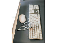 Aluminium Apple USB keyboard and wireless bluetooth mouse bundle
