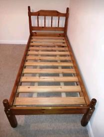 Solid Single Pine Bed Frame