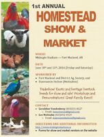 Homestead Show and Market June 10,11