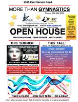 Gymnastics OPEN HOUSES in Vernon!