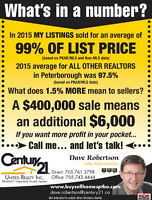 THINKING OF SELLING? THINK ABOUT THE NUMBERS!