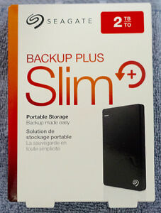 BRAND NEW 2TB SEAGATE BACKUP PLUS PORTABLE EXT.HDD
