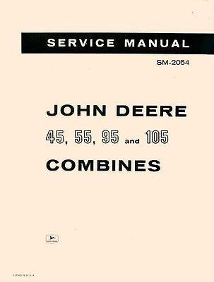 John Deere 45 55 95 105 Combine Service Manual Sm-2054
