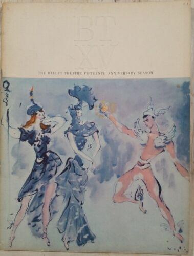 1954 The Ballet Theatre Fifteenth Anniversary Season Marcel Vertes Cover